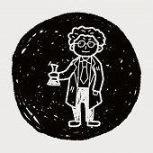 picture of mad scientist  - Scientist Doodle - JPG