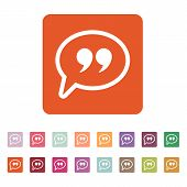 stock photo of quotation mark  - The Quote sign icon - JPG