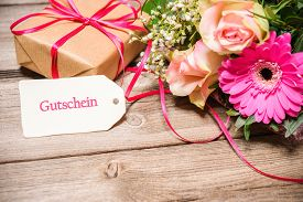 stock photo of text-box  - Bunch of flowers - JPG