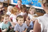 stock photo of nursery school child  - Montessori - JPG