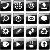 Vector collection of web buttons.