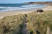 Path Down To The Beach At Sennen Cove, Cornwall, Uk.