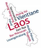 Laos Map And Cities