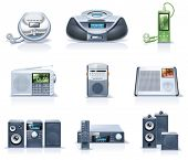 pic of subwoofer  - Vector household appliances icons - JPG