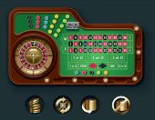 stock photo of roulette table  - Vector American roulette table layout - JPG