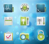 Typical mobile phone apps and services icons. EPS 10 version. Part 5 of 10