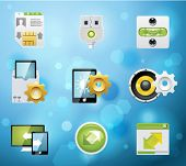 Typical mobile phone apps and services icons. EPS 10 version. Part 7 of 10