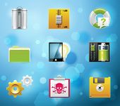 Typical mobile phone apps and services icons. EPS 10 version. Part 9 of 10