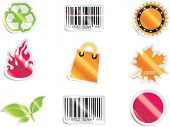 Vector shopping icon set and elements. Part 6