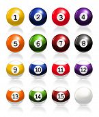Billiard balls, vector