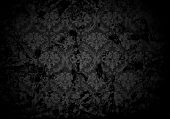 Black Grunge wallpaper pattern, vector