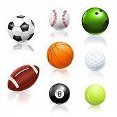 Balls, vector icons