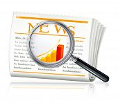 News Search, vector icon