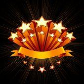 Stars emblem, black background