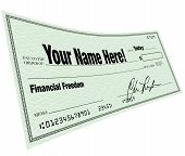 Your Name Here - Financial Freedom Blank Check