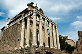The ancient ruins of Roman forum. Italy.