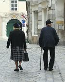 Old European Couple