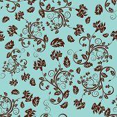 Fondo floral de vector inconsútil. Para los patrones sin fisuras que hace fácil sólo arrastre todo el grupo en swatche