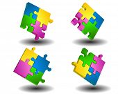 Vector illustration of puzzle mosaic background