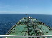 Large oil tanker approaching FPSO