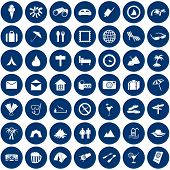 Travel set of different vector web icons