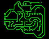 Electric scheme for design use. Vector illustration.