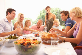 pic of healthy eating girl  - A family - JPG