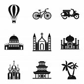Cultural Distinction Icons Set. Simple Set Of 9 Cultural Distinction Vector Icons For Web Isolated O poster