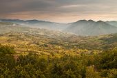 picture of apennines  - Beautiful light on a green italian valley in the Apennines - JPG