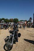 FAAKER SEE, Österreich - SEPTEMBER 10: Custom Motorräder sind auf der European Bike Week am September gezeigt
