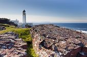 Rua Reidh Lighthouse and rocks