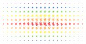 Galaxy Icon Spectrum Halftone Pattern. Vector Galaxy Pictograms Are Arranged Into Halftone Matrix Wi poster