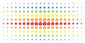 Home Keyhole Icon Rainbow Colored Halftone Pattern. Vector Home Keyhole Symbols Are Organized Into H poster