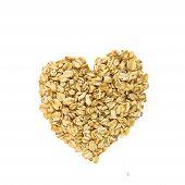 Heart of oatmeal