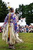 YORKTOWN HEIGHTS, NY - SEPTEMBER 25: Unidentified Native American Indian woman dances at the FDR  Po