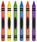 Colorful Large Crayons