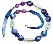 Azul Textíl de grano con cristales