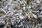 Shredded Sensitive Information. Shredded Secret Documents and information close up. poster