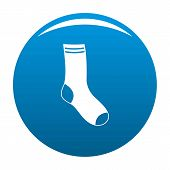 Sock Icon. Simple Illustration Of Sock Vector Icon For Any Design Blue poster