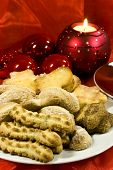 picture of christmas cookie  - a ornament with christmas cookies and candle light - JPG