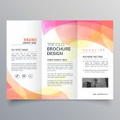 Colorful Abstract Trifold Brochure Vector Design Template poster