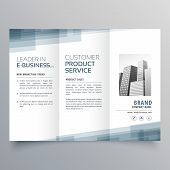 Business Trifold Abstract Template Vector Design Illustration poster