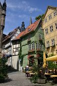 Half Timbered Houses In Quedlinburg