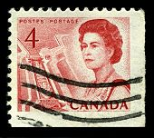 CANADA-CIRCA 1967:A stamp printed in CANADA shows image of The Saint Lawrence Seaway (St. Lawrence S