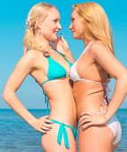 image of denude  - Couple Beauties Relaxating - JPG