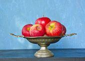 Vintage Vase And Red Apples