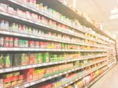Blurred Variety Of Spies, Chinese Herbs And Vegetable At Asian Super Market poster
