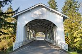 Hannah Covered Bridge In Oregon