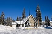Church In Wasatch Mountains With Snow