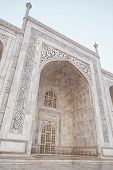 Taj Mahal Side Arch. Architecture Of India. New Wonder Of The World poster